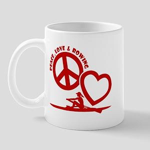 PEACE-LOVE-ROWING Mug