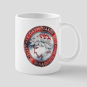 Olympiacos Red Metal Mugs