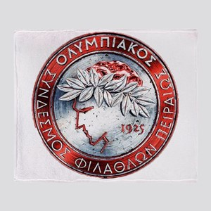 Olympiacos Red Metal Throw Blanket