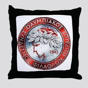 Olympiacos Red Metal Throw Pillow
