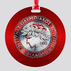 Olympiacos RED Round Ornament