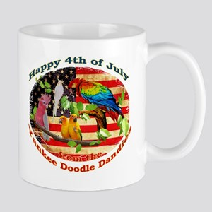 4th of July Parrots Mugs
