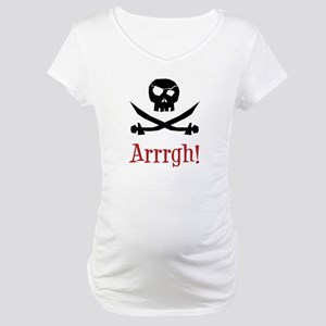 Pirate Skull Maternity T-Shirt
