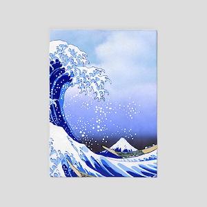 Surf's Up Great Wave Hokusai 5'x7'Area Rug