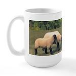Dog Meets Sheep Large Mug