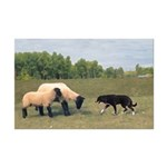 Dog Meets Sheep Mini Poster Print
