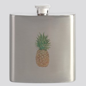 Pineapple Watercolor Flask