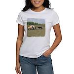 Dog Meets Sheep Women's T-Shirt
