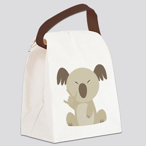 ASL I Love You Koala Canvas Lunch Bag