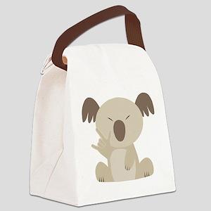 ASL I Love You Koala Canvas Lunch Bag