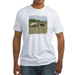 Dog Meets Sheep Fitted T-Shirt