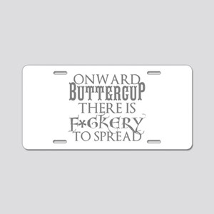 ONWARD BUTTERCUP Aluminum License Plate