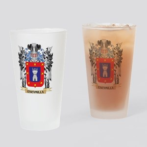 Escamilla Coat of Arms - Family Cre Drinking Glass