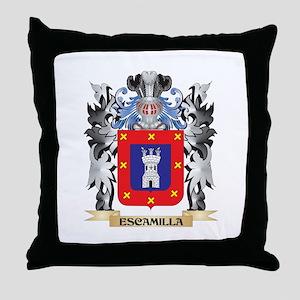 Escamilla Coat of Arms - Family Crest Throw Pillow