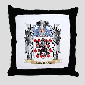 Escribano Coat of Arms - Family Crest Throw Pillow