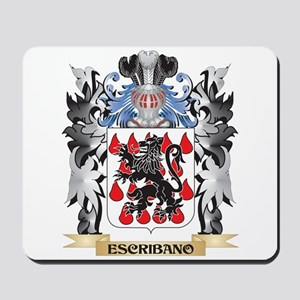 Escribano Coat of Arms - Family Crest Mousepad