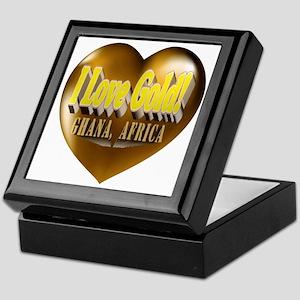 I Love Gold Ghana, Africa Keepsake Box