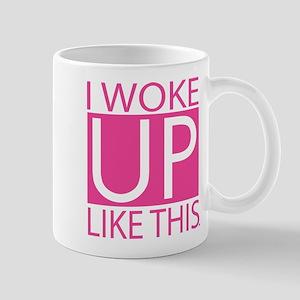 I woke up like this - pink Mugs