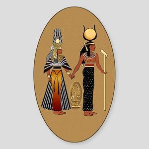 Isis and Nefertiri Oval Sticker