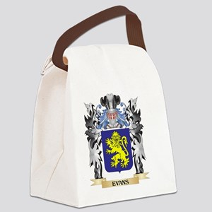 Evans Coat of Arms - Family Crest Canvas Lunch Bag