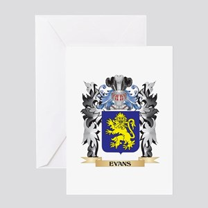 Evans Coat of Arms - Family Crest Greeting Cards