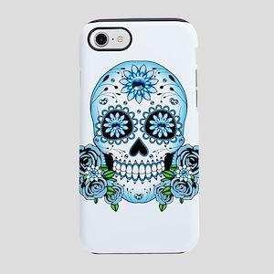 Blue Sugar Skull iPhone 8/7 Tough Case