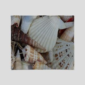Mixed Seashells Throw Blanket
