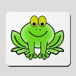 Smiling Cartoon Frog Mousepad