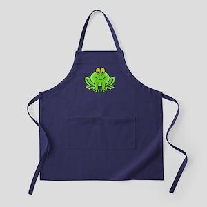 Smiling Cartoon Frog Apron (dark)
