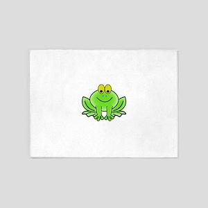 Smiling Cartoon Frog 5'x7'Area Rug