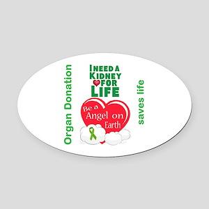 Kidney For Life Oval Car Magnet
