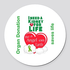 Kidney For Life Round Car Magnet