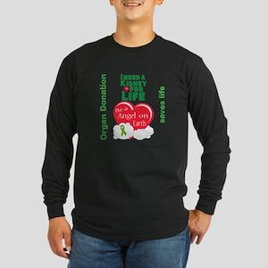 Kidney For Life Long Sleeve Dark T-Shirt