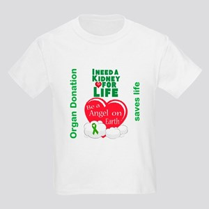 Kidney For Life Kids Light T-Shirt
