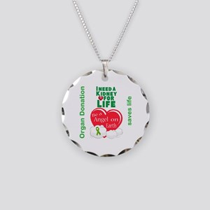 Kidney For Life Necklace Circle Charm