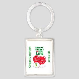 Kidney For Life Portrait Keychain