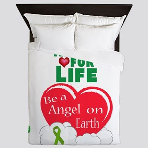 Kidney For Life Queen Duvet