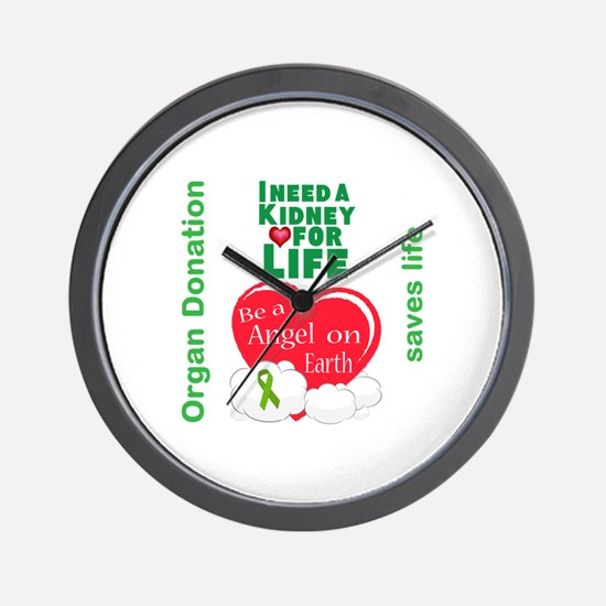Kidney For Life Wall Clock