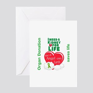 Kidney donation greeting cards cafepress kidney for life greeting card m4hsunfo
