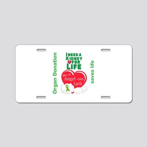 Kidney For Life Aluminum License Plate