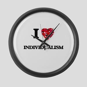 I Love Individualism Large Wall Clock