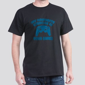 My Favorite Exercise is Video Games Dark T-Shirt