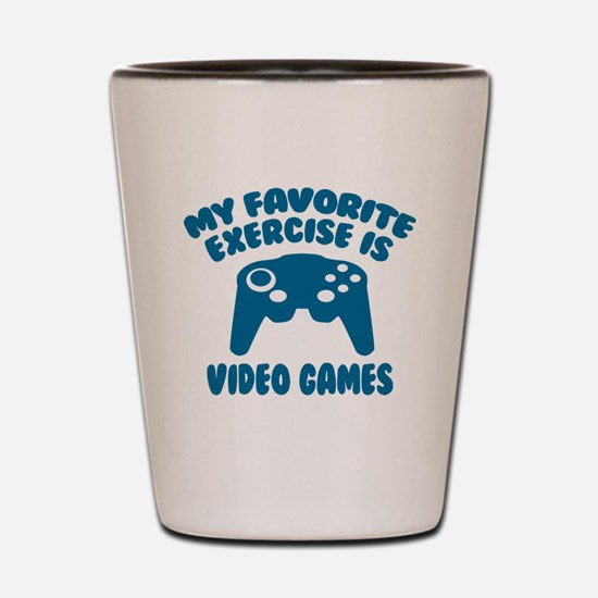 My Favorite Exercise is Video Games Shot Glass