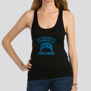 My Favorite Exercise is Video G Racerback Tank Top