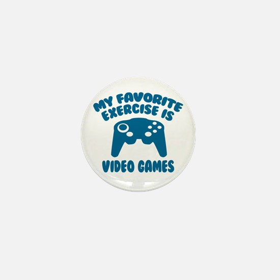 My Favorite Exercise is Video Games Mini Button