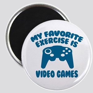 My Favorite Exercise is Video Games Magnet