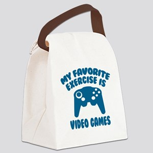My Favorite Exercise is Video Gam Canvas Lunch Bag