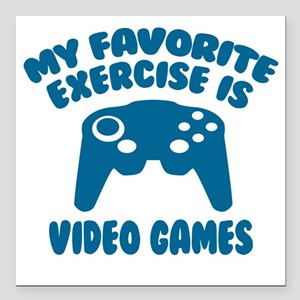 """My Favorite Exercise is  Square Car Magnet 3"""" x 3"""""""