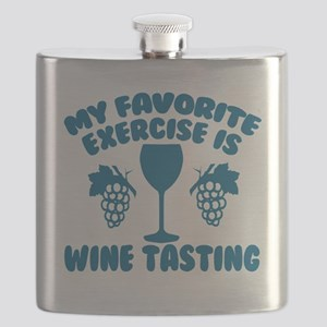 My Favorite Exercise is Wine Tasting Flask