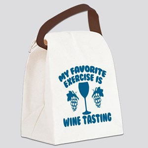 My Favorite Exercise is Wine Tast Canvas Lunch Bag
